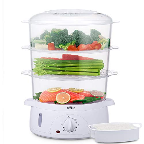 Cuiseur-vapeur-Cuiseur-vapeurs-electrique-sans-BPA-Paniers-empilables–3-niveaux-Cuiseur-legumes-avec-porte-ufs-et-bol–riz-minuterie-Puissance-de-800W-9L-de-Kealive-0