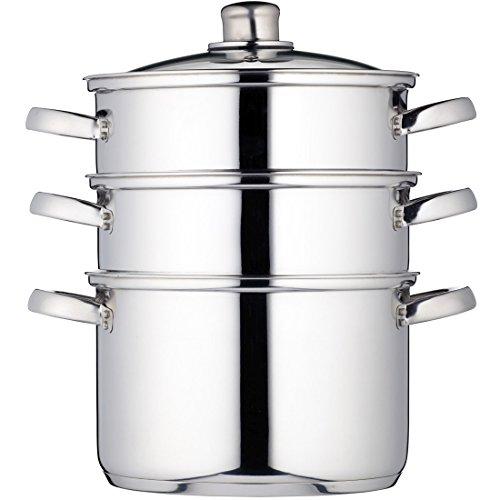 Kitchen-Craft-Clearview-Cuiseur-vapeur–3-tages-Acier-inoxydable-22-cm-0