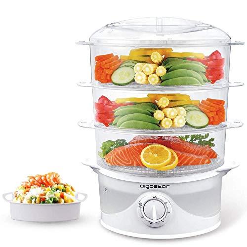 Aigostar-Fitfoodie-30CFO-Cuiseur-vapeur-lectrique-0-BPA-Puissance-de-800W-minuterie-3-niveaux-indpendants-de-cuisson-Cuisine-saine-Design-exclusif-0