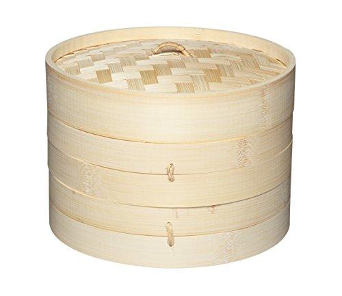 Kitchen-Craft-Pure-Oriental-Cuit-vapeur-Bambou-2-niveau-couvercle-0