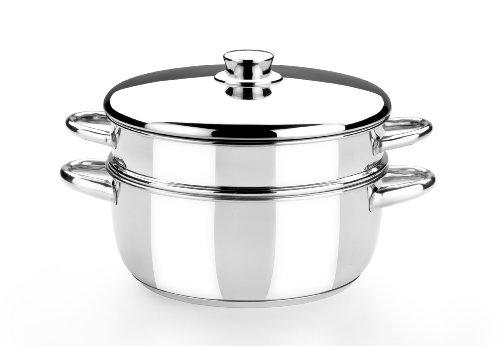 Monix-Optima-Cuiseur-vapeur-avec-couvercle-en-acier-inoxydable-1810-24-cm-0
