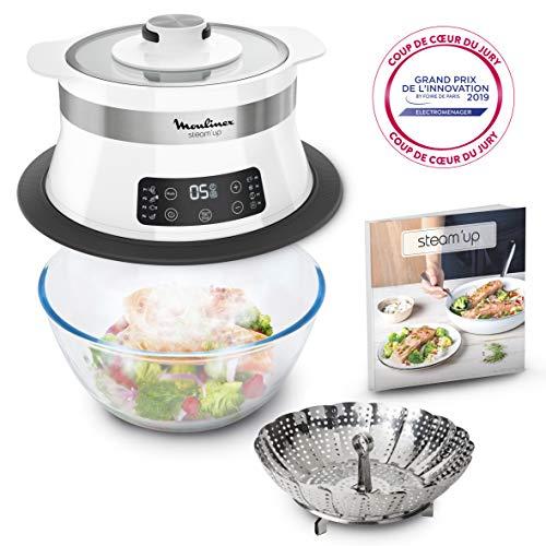 Moulinex-Steamup-Cuiseur-Vapeur-Recettes-Savoureuses-Simple-et-Compact-Cuisine-Saine-Gourmande-VJ504010-saladier-non-inclus-0