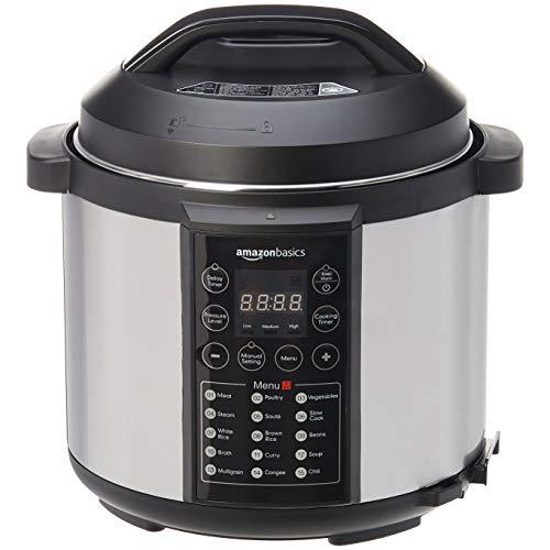 AmazonBasics-Cuiseur-vapeur-lectrique-multi-usage-23-en-1-55-litres-1-000-W-acier-inoxydable-bross-avec-livre-de-recettes-gratuit-0