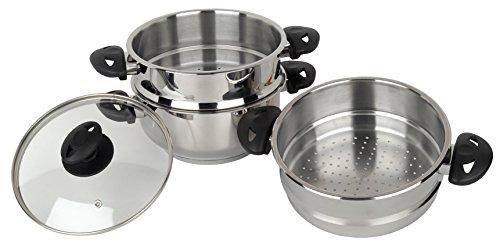 Stainless-steel-collection-Cuiseur-Vapeur-3-tages-en-Acier-Inoxydable-20-cm-0